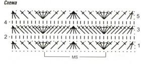 Схема вязания мини юбка крючком