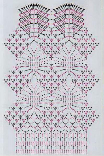 Схема вязания ажурная юбка