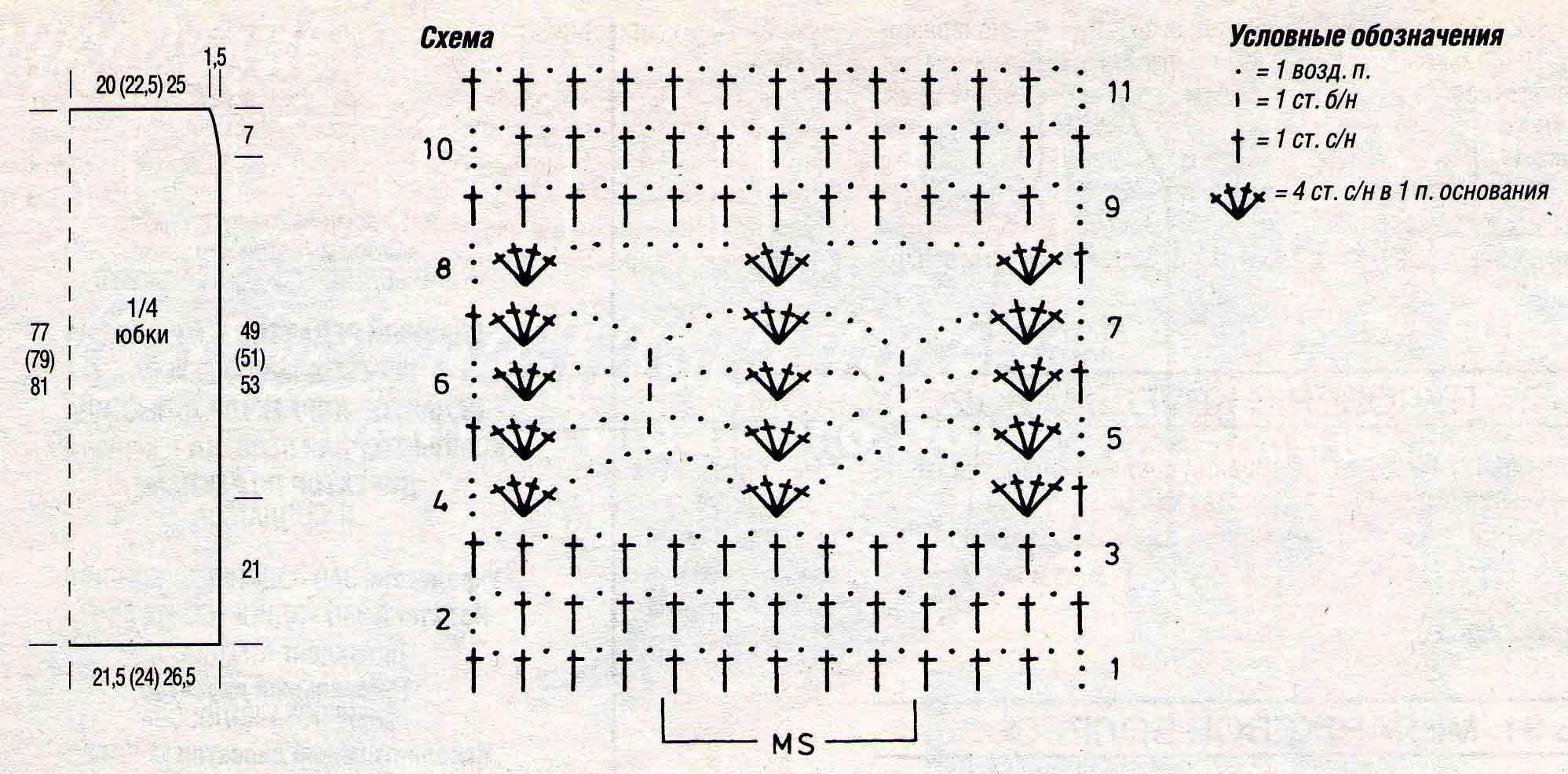 Крючком схемы и размеры