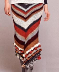 Комментарий: теплые вязаные юбки фото