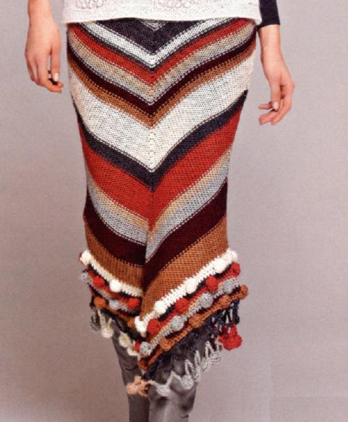 вязание длинной юбки от vog