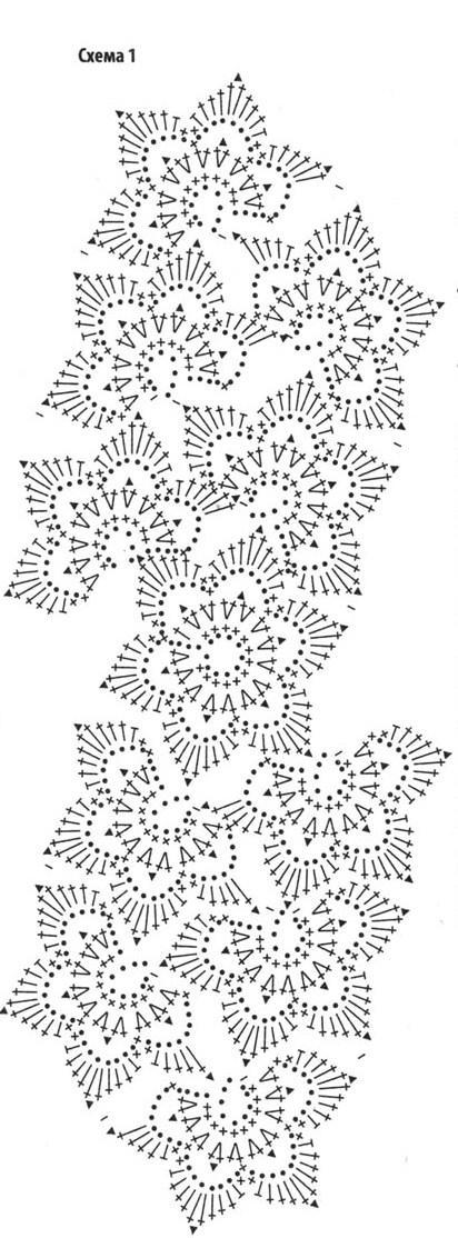 shema vyazaniya korotkaya yubka kruchkom.  Схема вязания короткой юбки крючком.