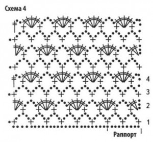 Схема вязания летняя мини юбка крючком