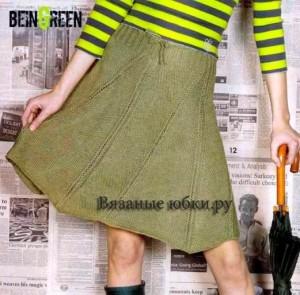 Вязаная юбка спицами из английского журнала по вязанию