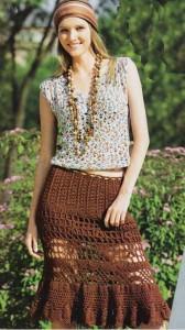 Летняя ажурная юбка крючком