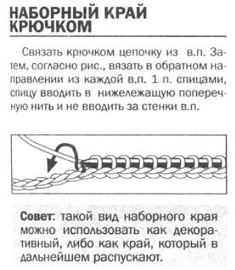 крючком. схема юбки с воланами