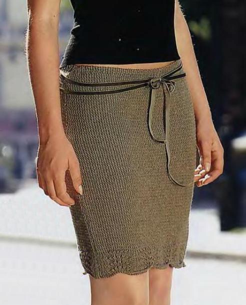 Облегающая вязаная мини юбка