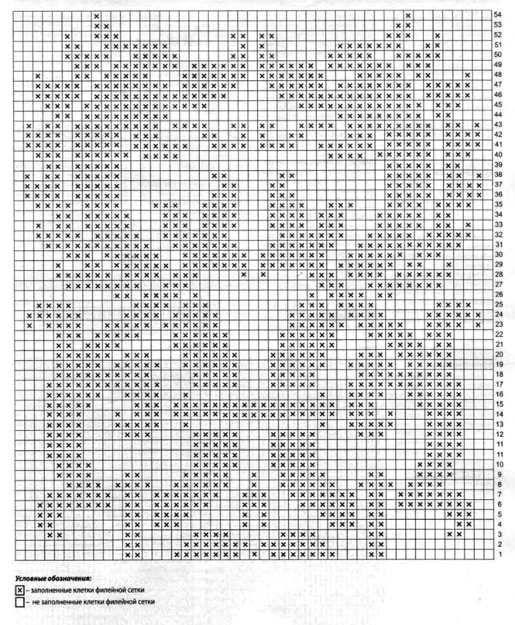 Схема вязания геральдический