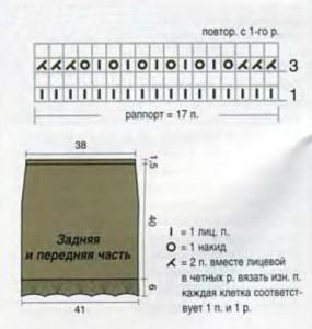 Схема вязания мини юбка спицами
