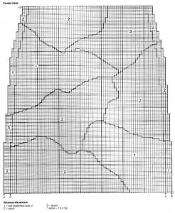 схема вязания прямая юбка спицами