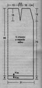 Выкройка длинная вязанная юбка крючком