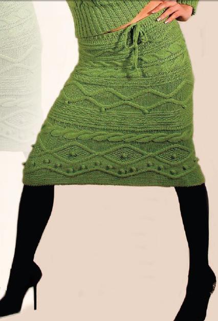 модели вязаных юбок