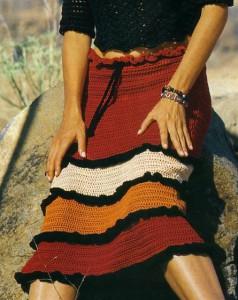Вязание юбки с оборками крючком