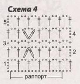 Вязанная юбка крючком, схема вязания