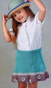 Детская юбочка спицами на девочку 4 года