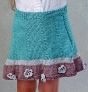 вязаная детская юбочка спицами на девочку 4 лет фото