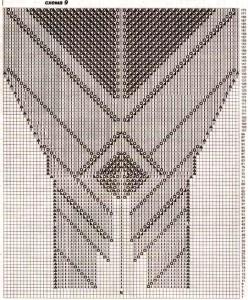 Схема вязания для ажурной юбки спицами