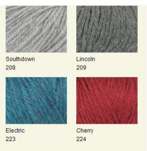 цвета пряжи для вязания юбки
