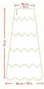 Длинная юбка крючком выкройка