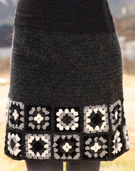 Теплые юбки крючком со схемами