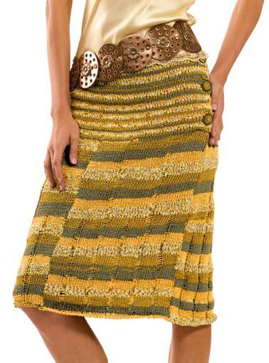 прямая вязаная юбка спицами от Берроко