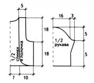 Выкройка вязаное болеро спицами на девочку 9-10 лет