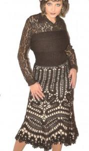 Вязаная юбка годе из брюггского кружева