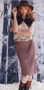 Вязаная юбка спицами из журнала Vogue