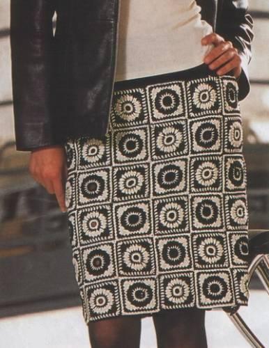 Вязать юбку из квадратов