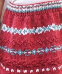 детская вязаная юбка спицами фото