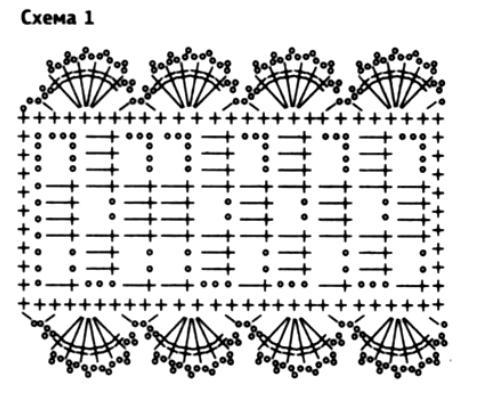 Схема вязания ажурная повязка на голову для девочки крючком