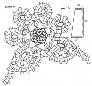 схема вязания  и выкройка юбка из брюггских кружев