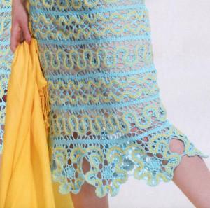 вязаная юбка из брюггских кружев