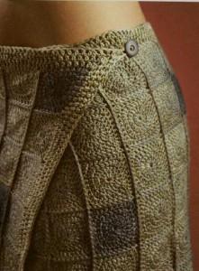 Вязаная юбка с запахом из мотивов крючком
