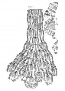 Схема вязания юбка с узором ананасы крючок