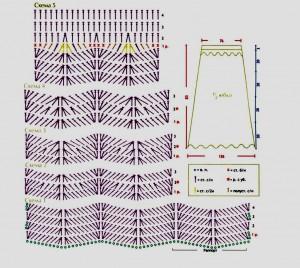 Схемы вязания длинная красная юбка крючком