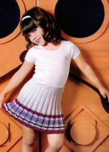 детская вязаная юбка в складку на девочку  7-8 лет