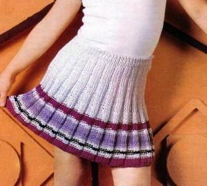 фото вязаная юбка спицами в складку для девочки 7-8 лет