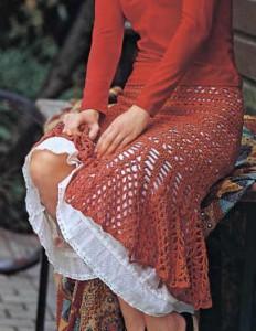 летняя ажурная юбка крючком фото