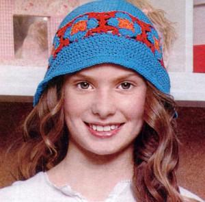 летняя вязаная шляпка крючком для девочки подростка фото