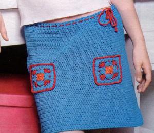 вязаная юбка крючком на девочку 14 лет, фото