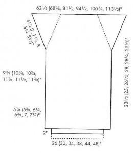 выкройка вязаная юбка годе спицами