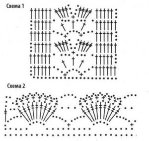 схемы вязания ажурной юбки крючком