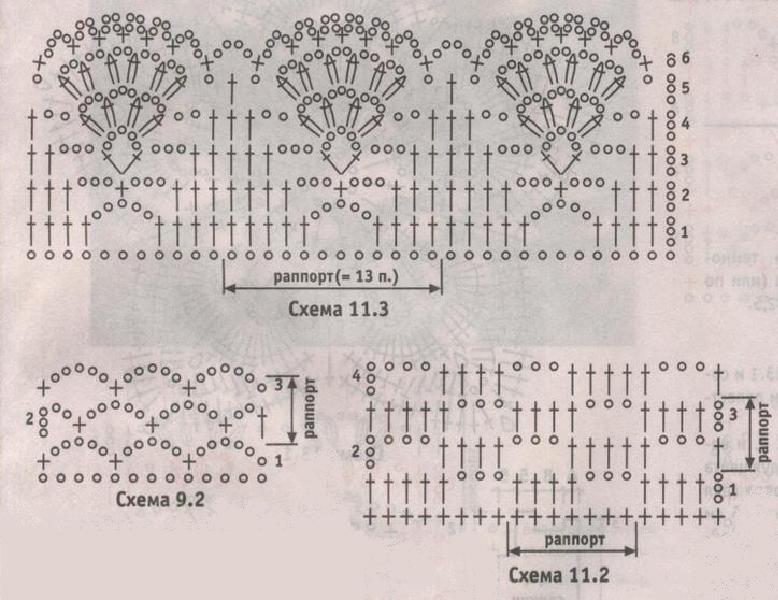 схемы вязания к черной