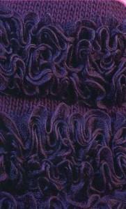 фото вязанная юбка с воланами из лентовидной пряжи