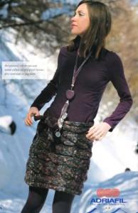 теплая вязаная мини юбка с косами из толстой меланжевой пряжи спицы