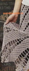 ажурная юбка, связанная крючком по спирали