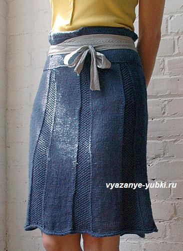 Как связать спицами юбку клиньями
