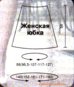 выкройка для взрослой вязаной юбки спицами