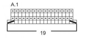 схема вязания юбки А 1